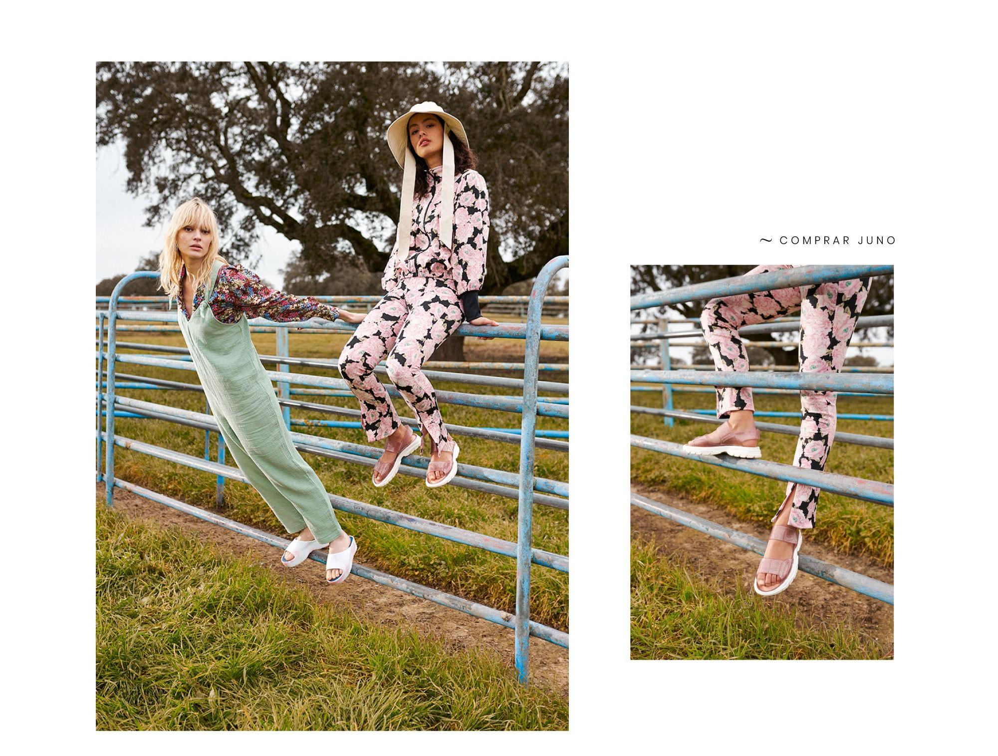 Sandálias femininas com estilo desportivo JUNO e Chinelos de plataforma SUNNY Lemon Jelly