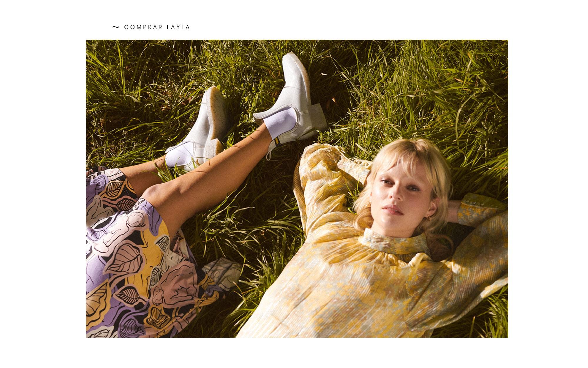 Botas brancas recicladas Layla primavera verão 2020