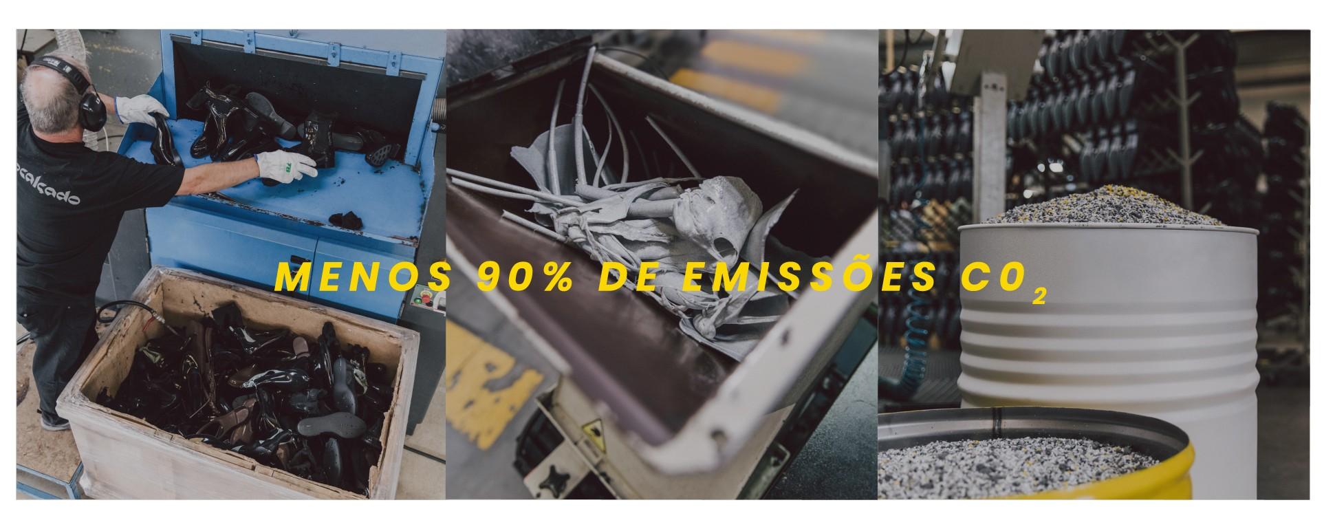 Calçado reciclado com menos 90% CO2