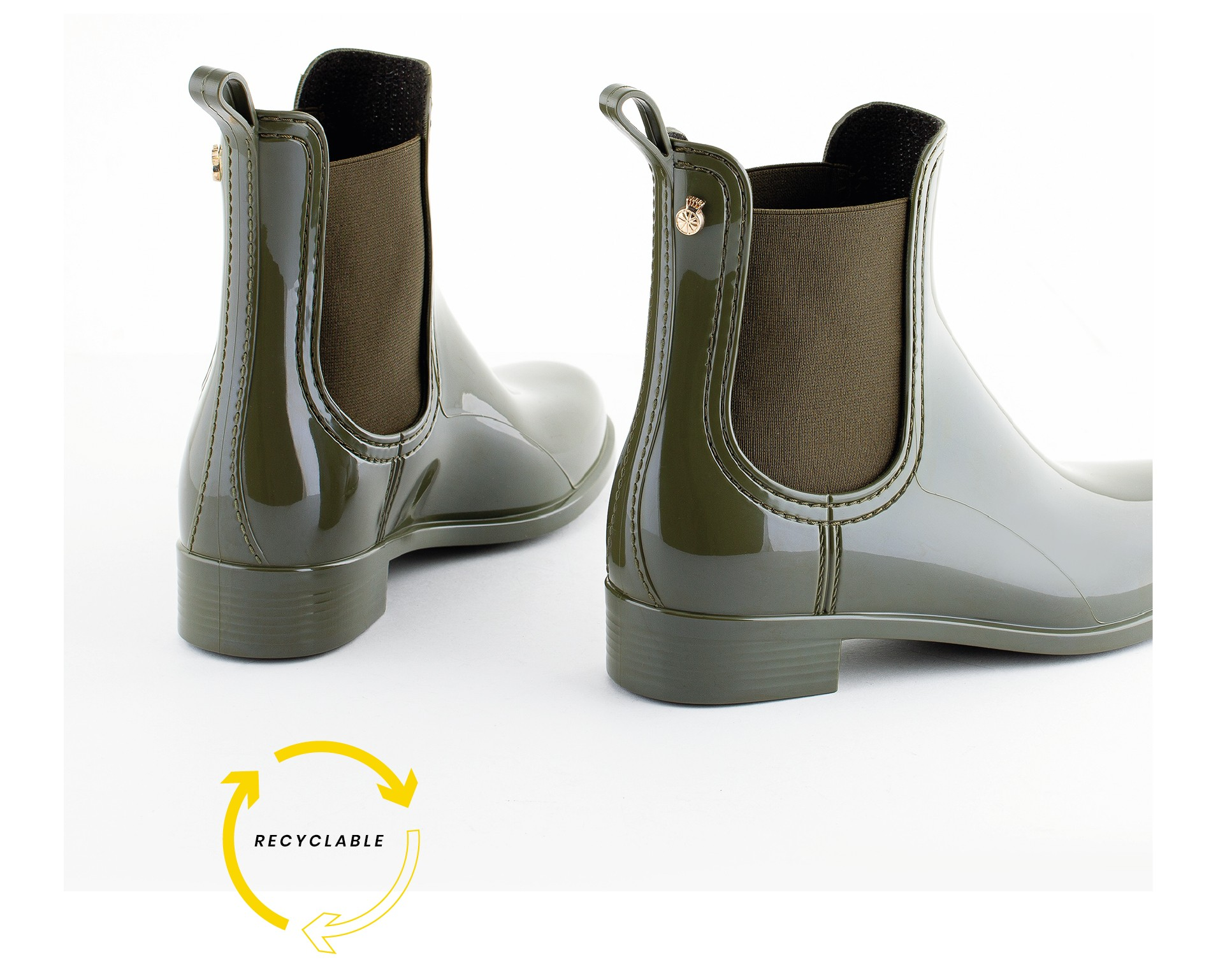 recycled and recyclable ankle boots