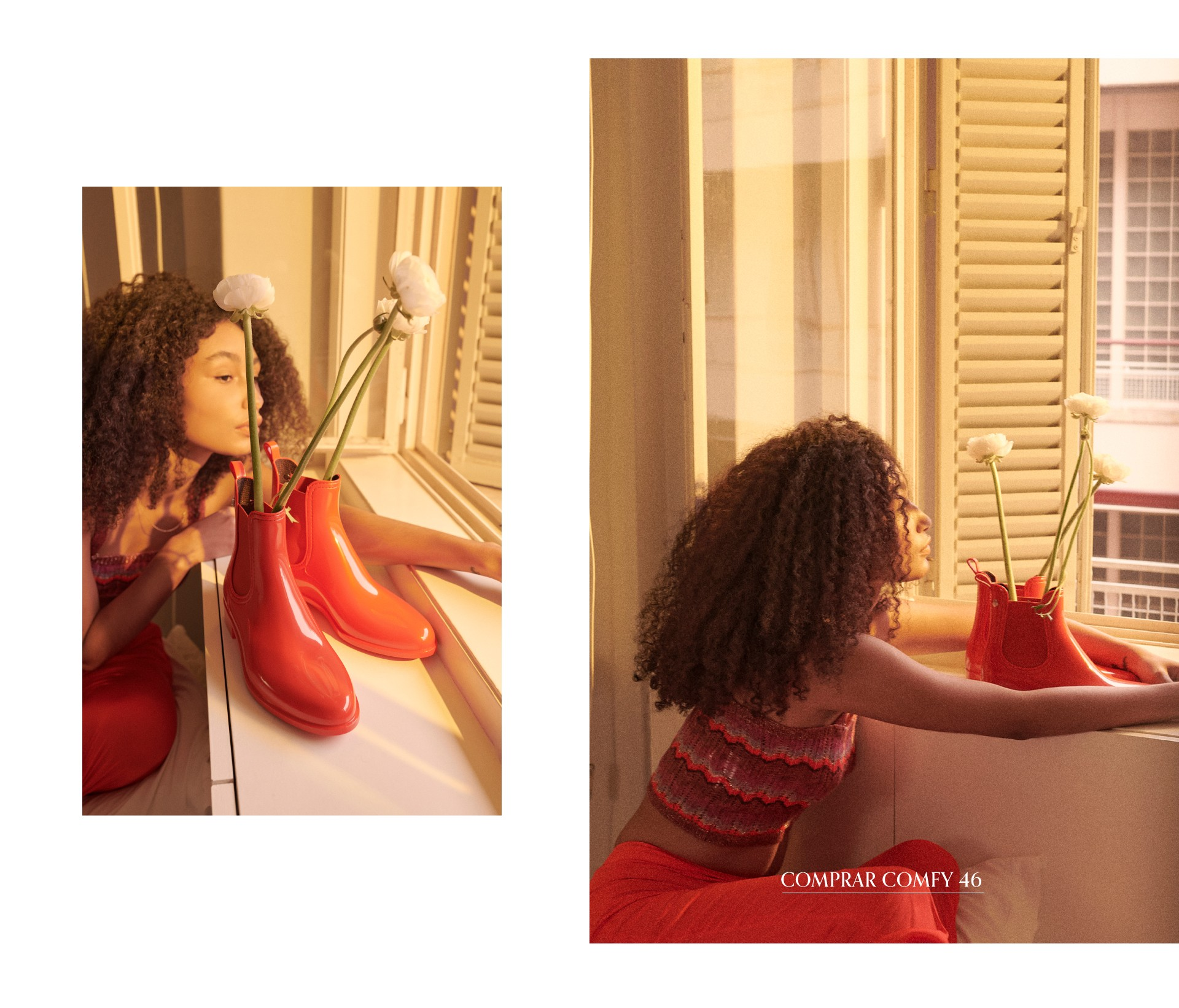 botins vermelhos chelsea para mulher