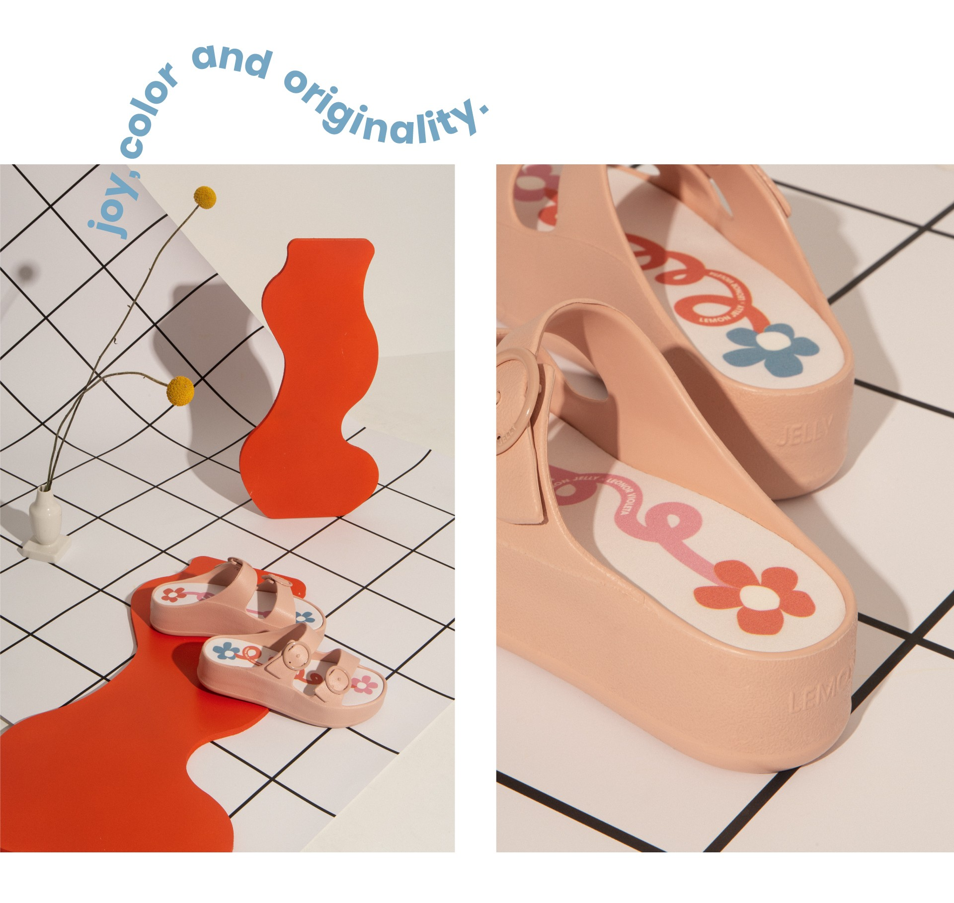 Pink platform slides