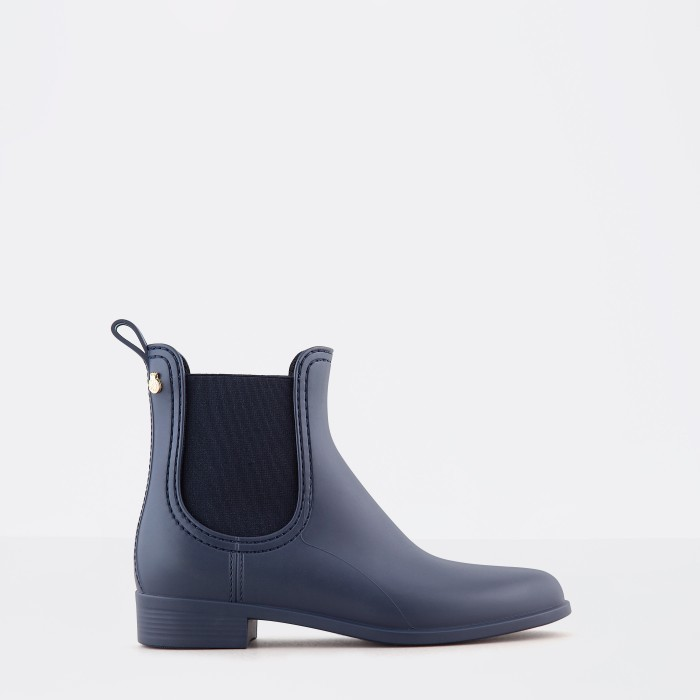 Lemon Jelly | Blue Matte Rain Boots | Jelly Shoes SPLASH 03