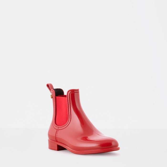 Red Ankle Boot