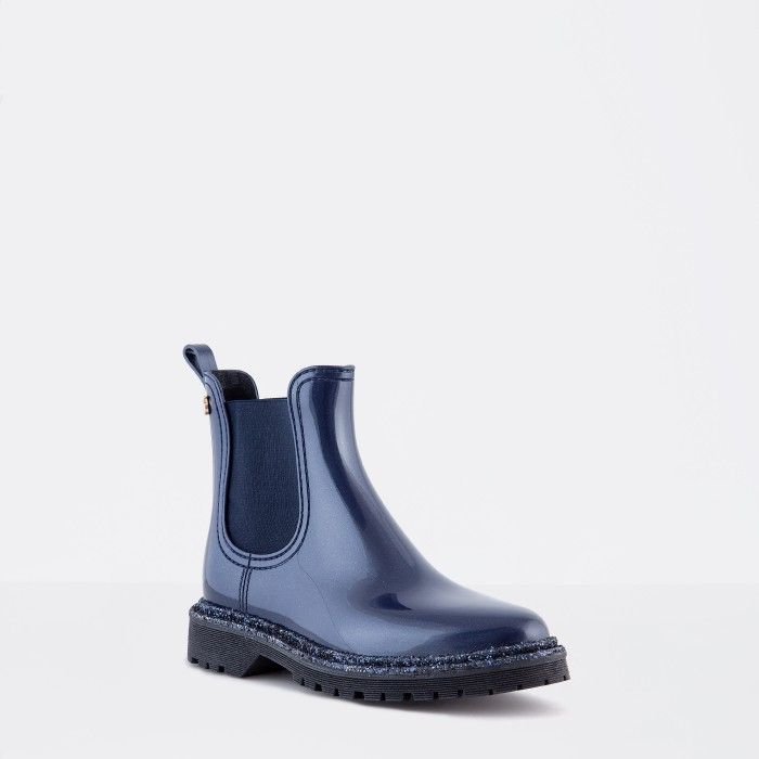 Blue Ankle Boot