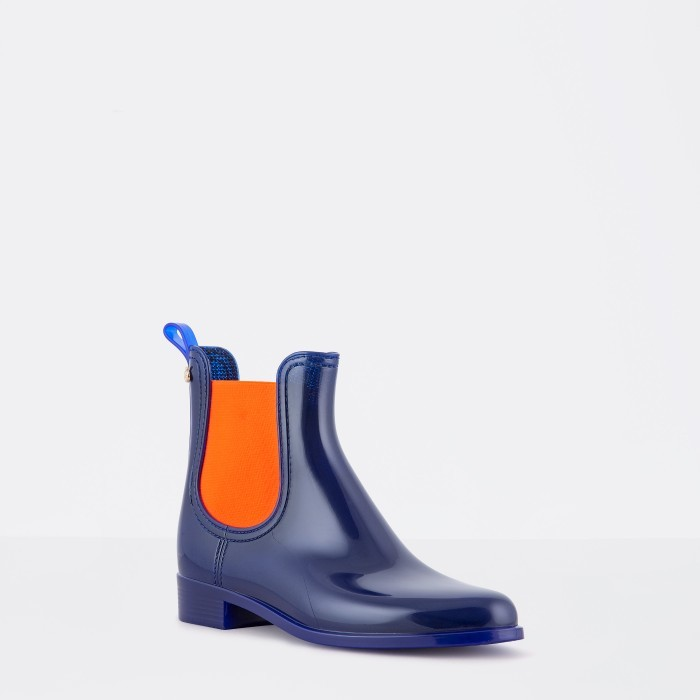 Lemon Jelly | Blue/Orange Waterproof Ankle Boot | Women PISA 02
