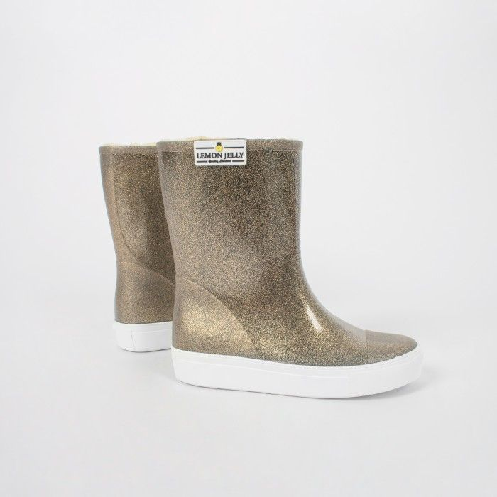 Gold Knee High Boot