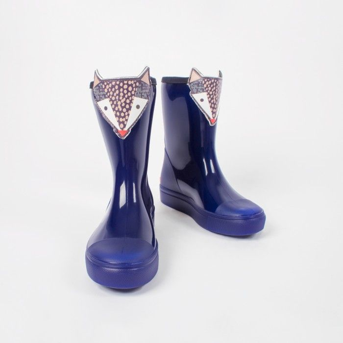 Blue Knee High Boot