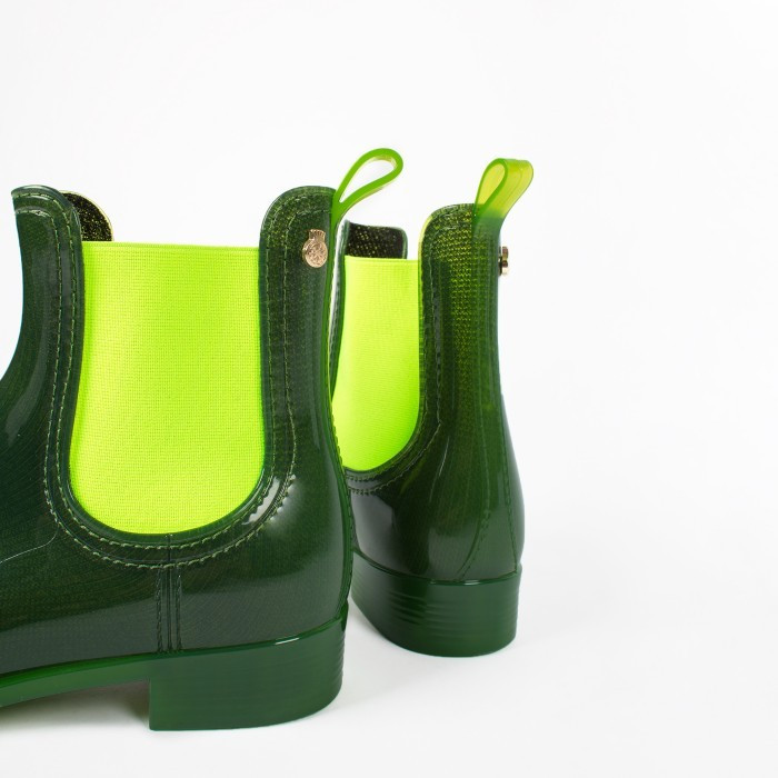 Lemon Jelly | Green Waterproof Ankle Boot | Women PISA 01