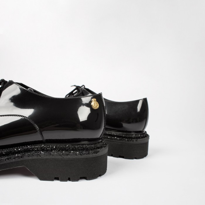 Lemon Jelly | Black Oxford Shoe with Glitter | Women JODY 01