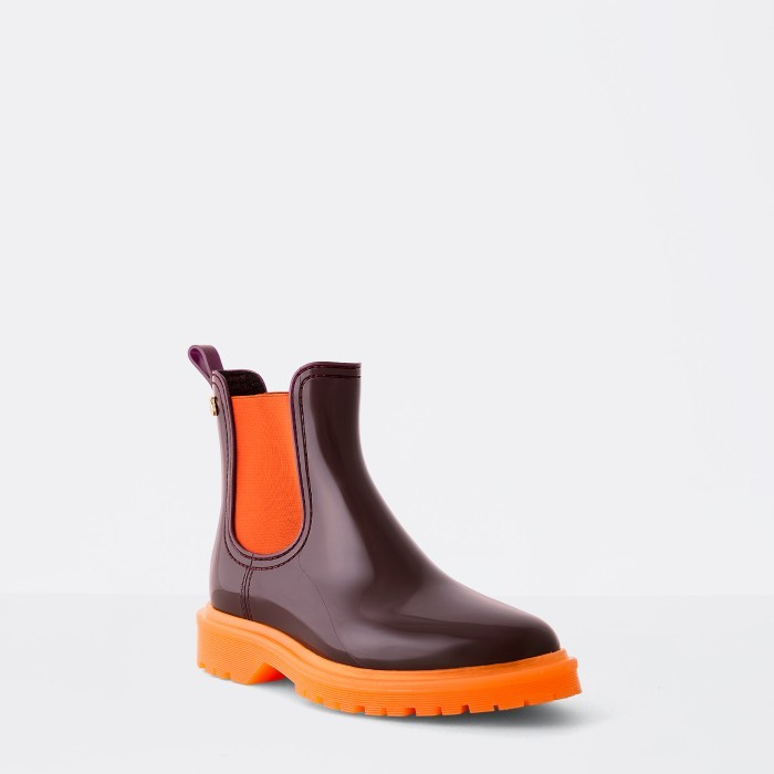 Lemon Jelly | Bordeaux Platform Rain Boots | Women BLOCK 03
