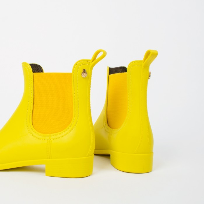 Lemon Jelly | Yellow Matte Rain Boots  Jelly Shoes SPLASH 06