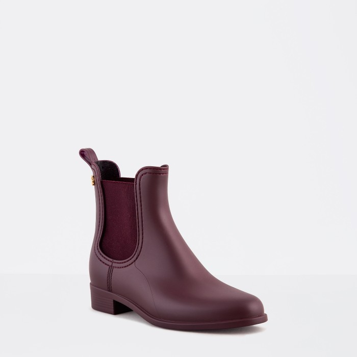 Lemon Jelly | Bordeaux Matte Rain Boots Jelly Shoes SPLASH 02