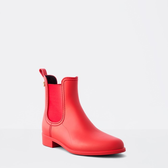 Lemon Jelly | Red Matte Rain Boots | Jelly Shoes SPLASH 05