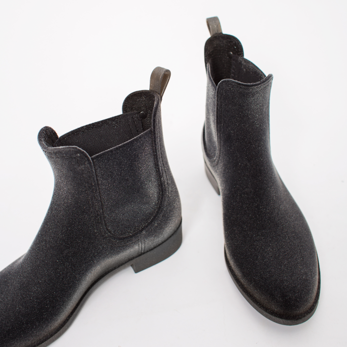 Lemon Jelly | Grey Flocked Rain Boots Jelly Shoes VELVETY 12