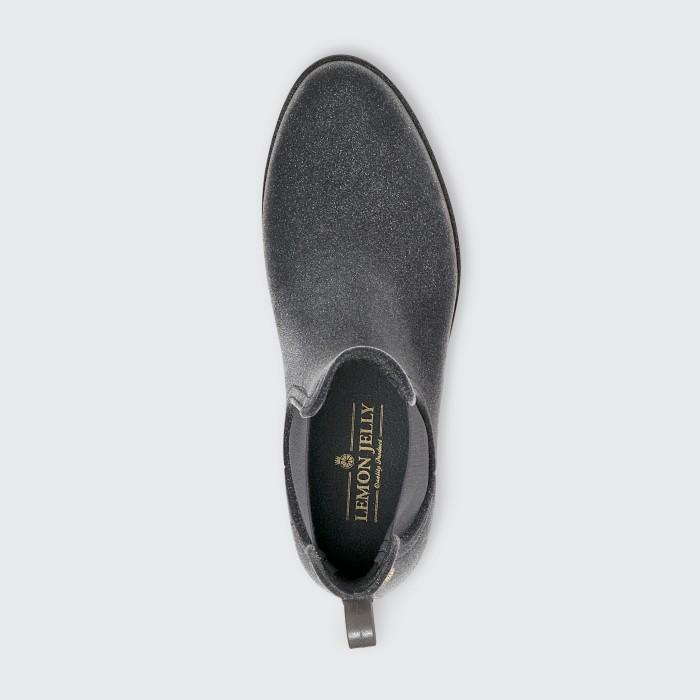 Lemon Jelly | Grey Flocked Rain Boot | Women VELVETY 02