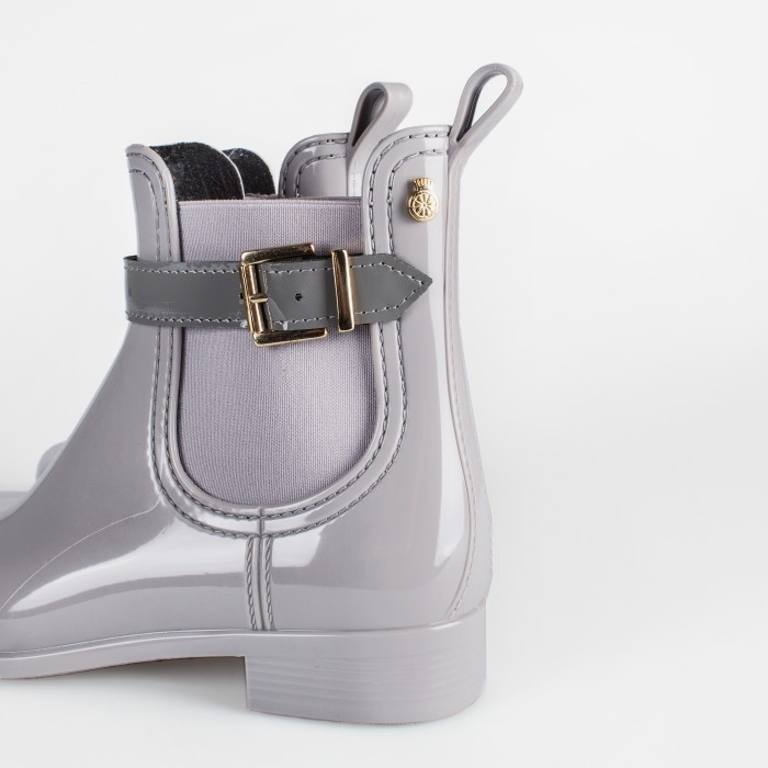 Lemon Jelly | Grey Chelsea Boots in Plastic | Woman GARDA 12