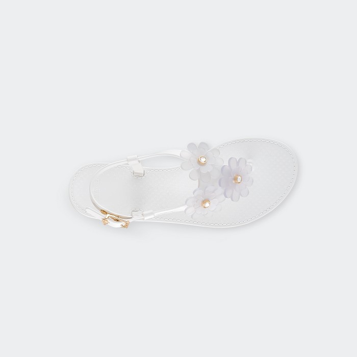 Lemon Jelly | Pink Jelly Sandals with Flowers | Women BETONY 02