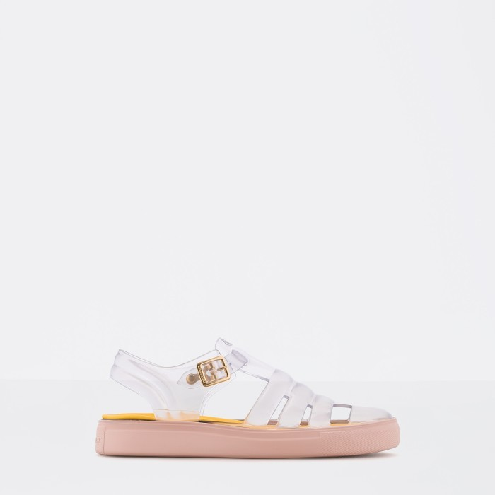 Lemon Jelly | Cleart/Pink Fisherman Jelly Sandals CRYSTAL 09