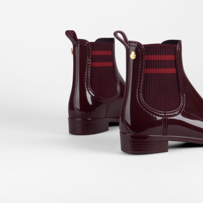 Lemon Jelly | Bordeaux Rain Boots with Sporty Look LYNN 02