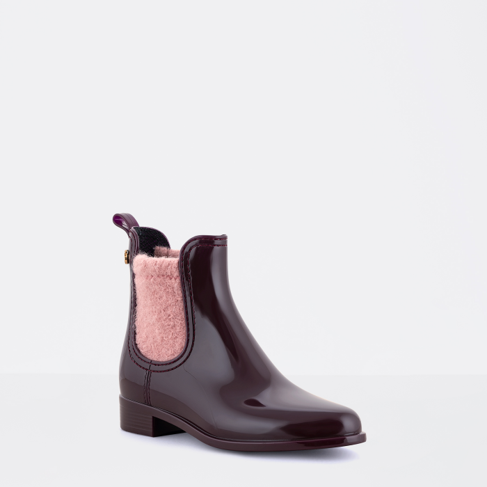 Lemon Jelly | Bordeaux Rain Boots with Felt | Women ADLEY 01