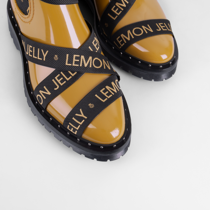 Lemon Jelly Rusted Gold Platform Ankle Boots FRANKIE 02
