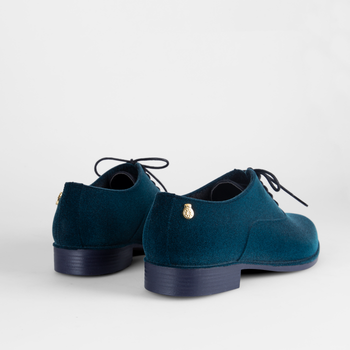 Lemon Jelly Sapato Oxford Feno Azul Flocado DANY 04
