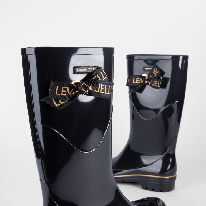 Lemon Jelly | Black Knee High Boots with Lace | Women JILIAN 01