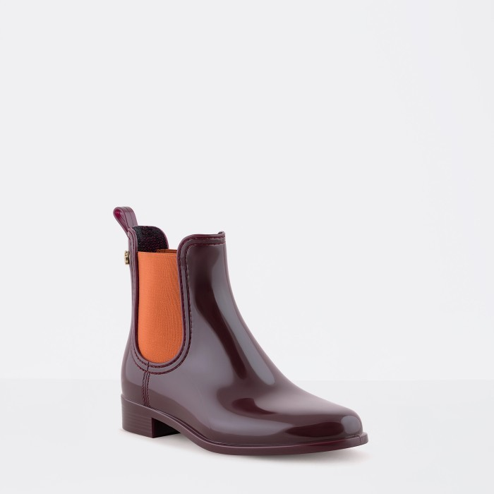Lemon Jelly | Bordeaux/Orange Rain Boots  Jelly Shoes PISA 23