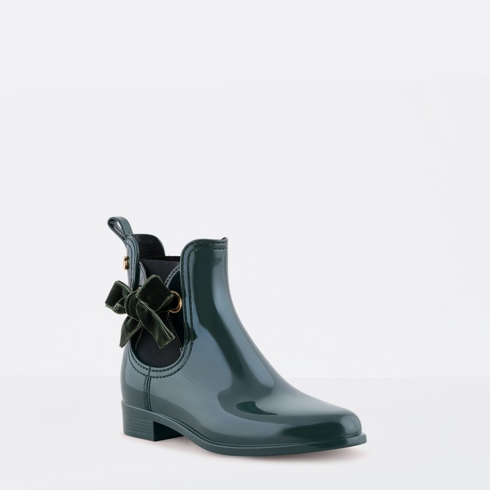 Lemon Jelly | Green Rain Boots with a Soft Bow | Women PHILY 03