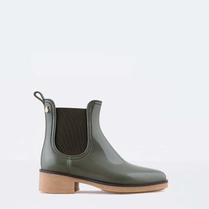 Lemon Jelly | Green Heeled Ankle Boots  Jelly Shoes AVA 04