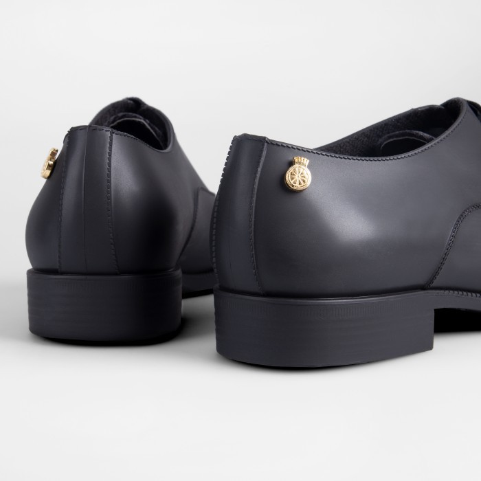 Lemon Jelly | Black Oxford Shoes with Lace for Woman DYLAN 01