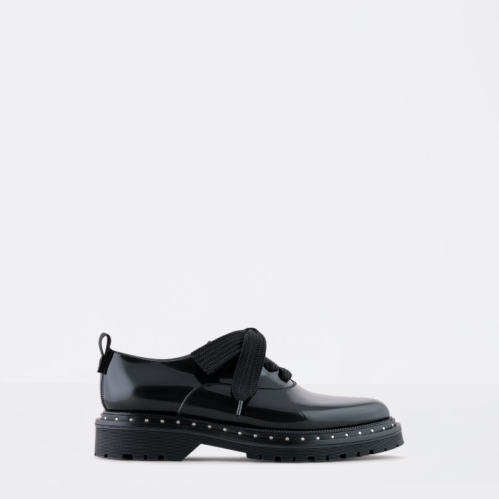 Lemon Jelly | Black Oxford Shoes with Platform and Laces HAZE 01