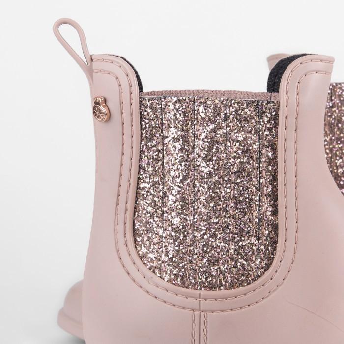 Lemon Jelly | Pink Matte Rain Boots with Glitter | Women CASS 03