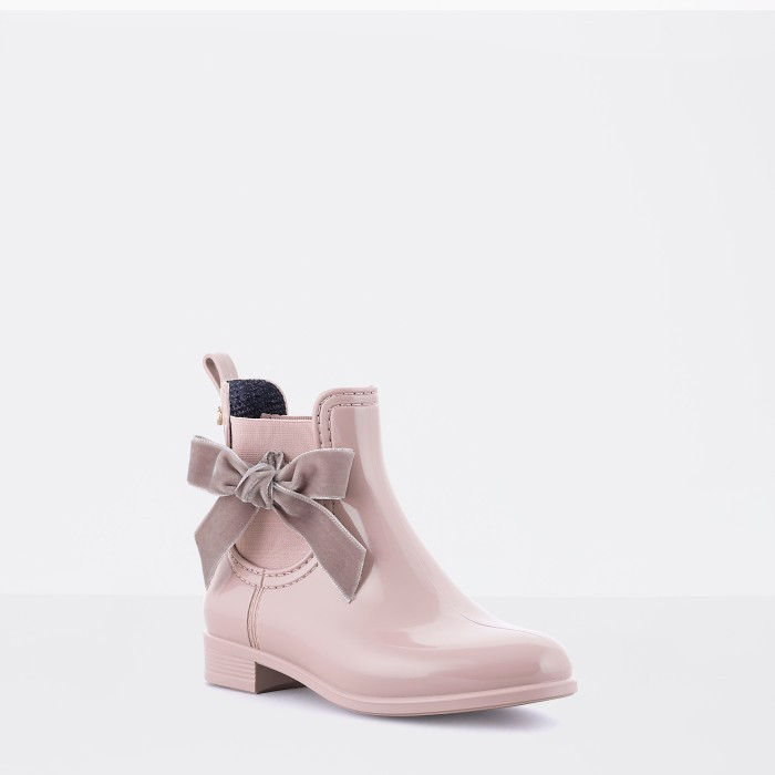 Lemon Jelly | Pink Girl Ankle Rain Boots with Laces LACEY 03
