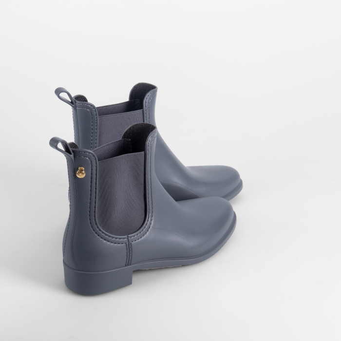 Lemon Jelly | Grey Matte Rain Boots  Jelly Shoes SPLASH 08