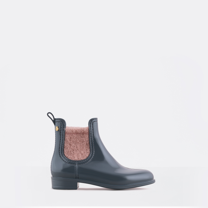 Lemon Jelly | Bordeaux Girl Ankle Rain Boots with Fur MACI 02