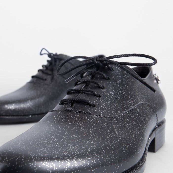 Lemon Jelly | Black Oxford Shoes with Glitter | Women RENÉE 01