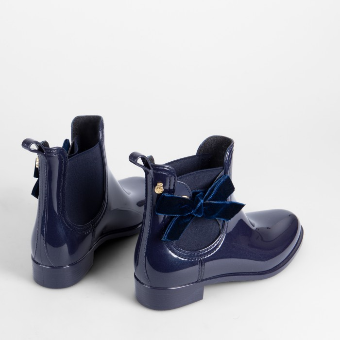 Lemon Jelly | Blue Rain Boots with a Soft Bow | Women PHILY 02