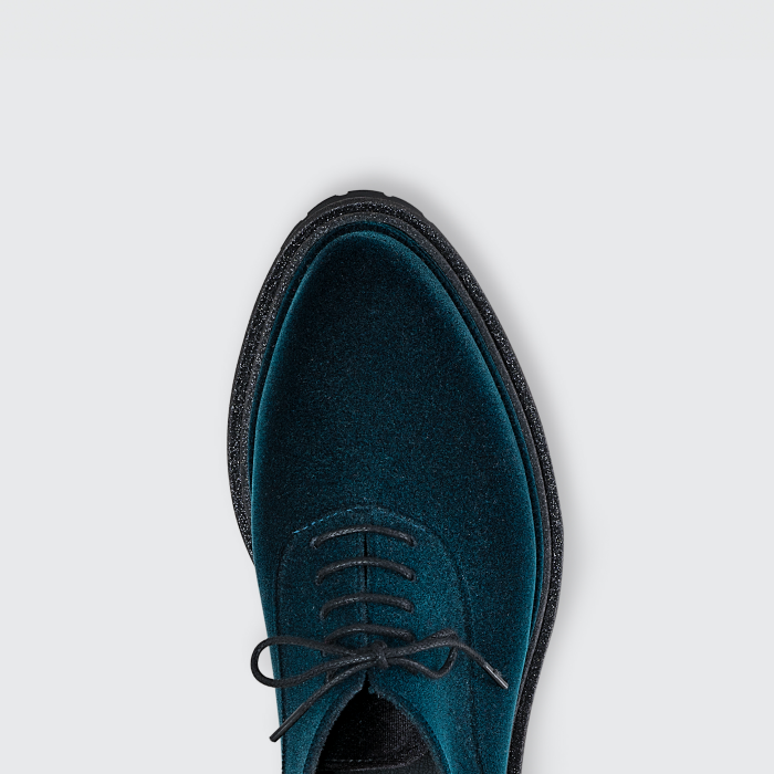 Lemon Jelly | Flocked Blue Oxford Shoes with Glitter LEE 02