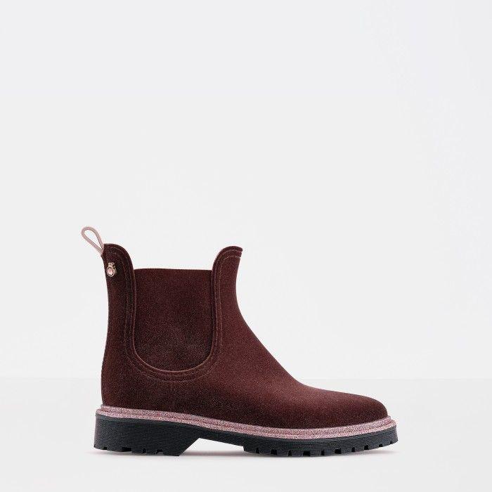Lemon Jelly | Pink Platform Rain Boots with Glitter DEE 03