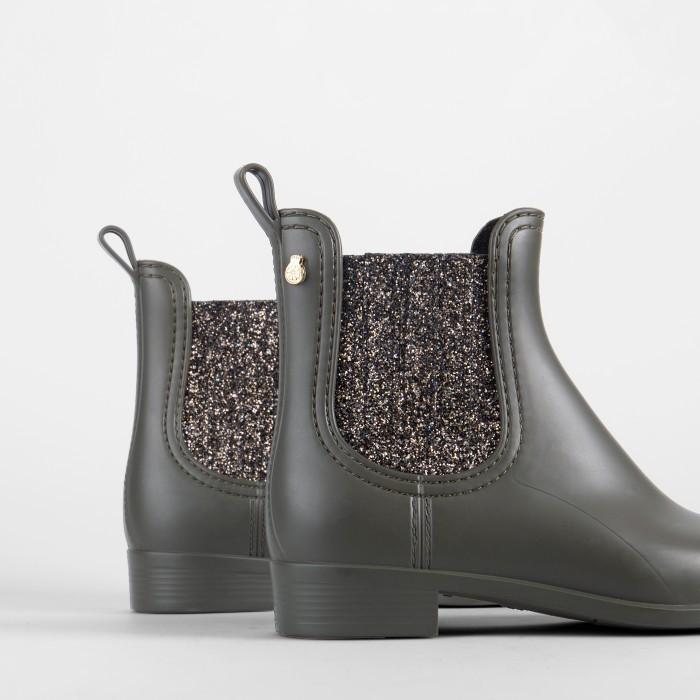 Lemon Jelly | Green Matte Rain Boots with Glitter CASS 02