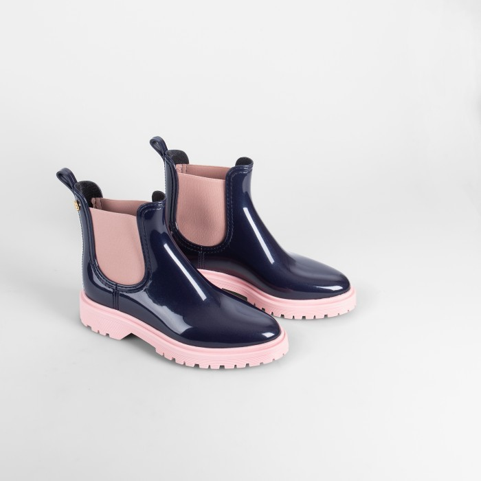 Lemon Jelly Blue/Pink Platform Rain Boots | Women BLOCK 06