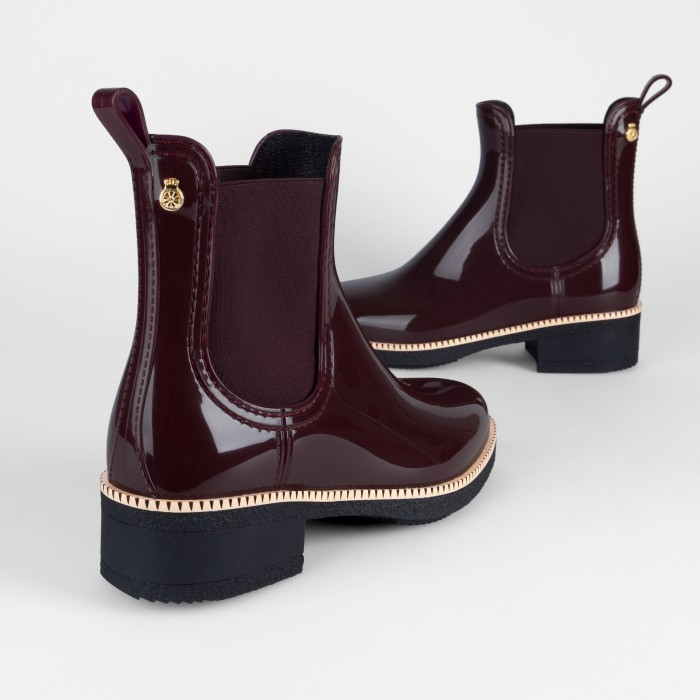 Lemon Jelly | Bordeaux Heeled Ankle Boots  Jelly Shoes AVA 02