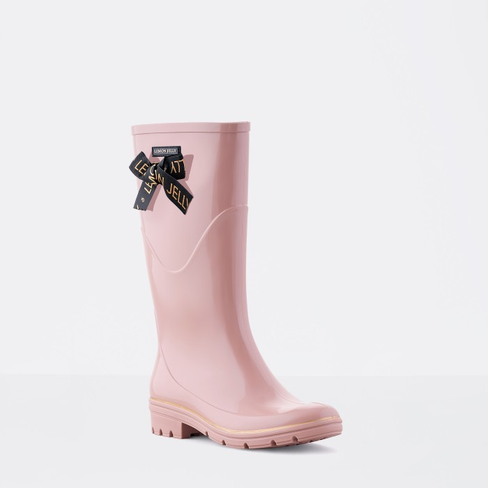 Lemon Jelly | Pink Knee High Boots with Lace | Women JILIAN 03