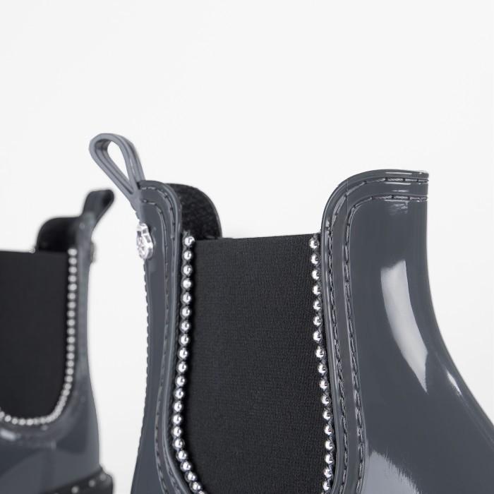 Lemon Jelly | Grey Rain Boot with Studs | Women KARA 02
