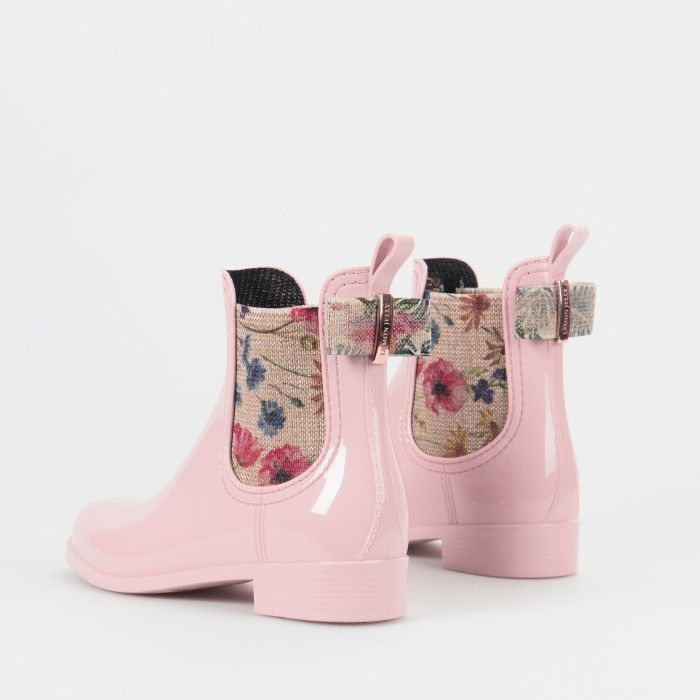 Lemon Jelly | Pink Chelsea Boots in Plastic | Woman FLORENCE 02