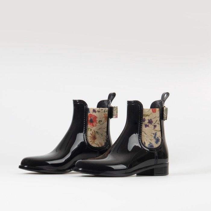 Lemon Jelly Black Chelsea Boots in Plastic | Woman FLORENCE 04