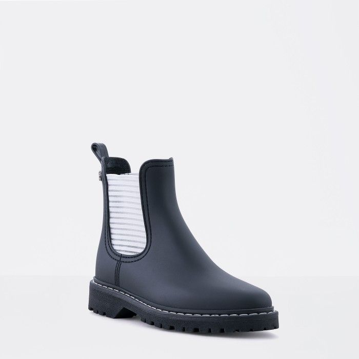 Lemon Jelly | Black Platform Rain Boots | Woman RYAN 01