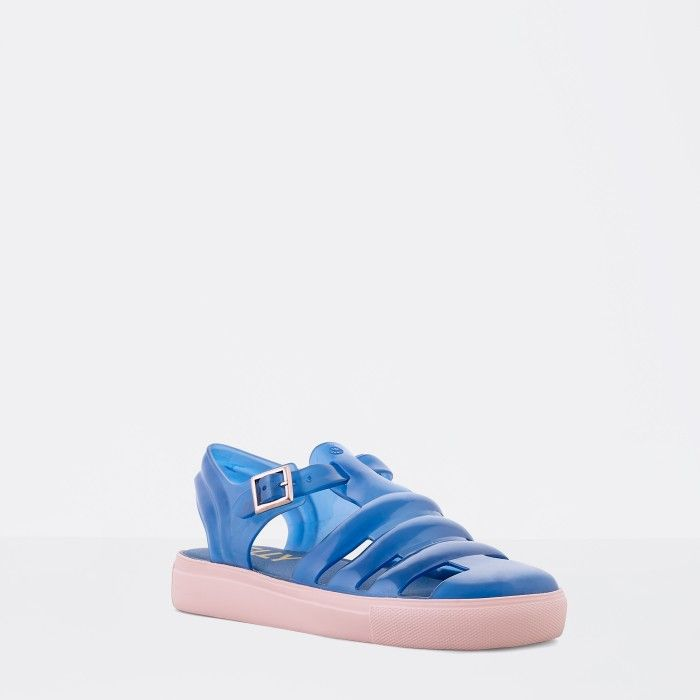 Lemon Jelly | Clear Dark Blue Fisherman Jelly Sandals CRYSTAL 10